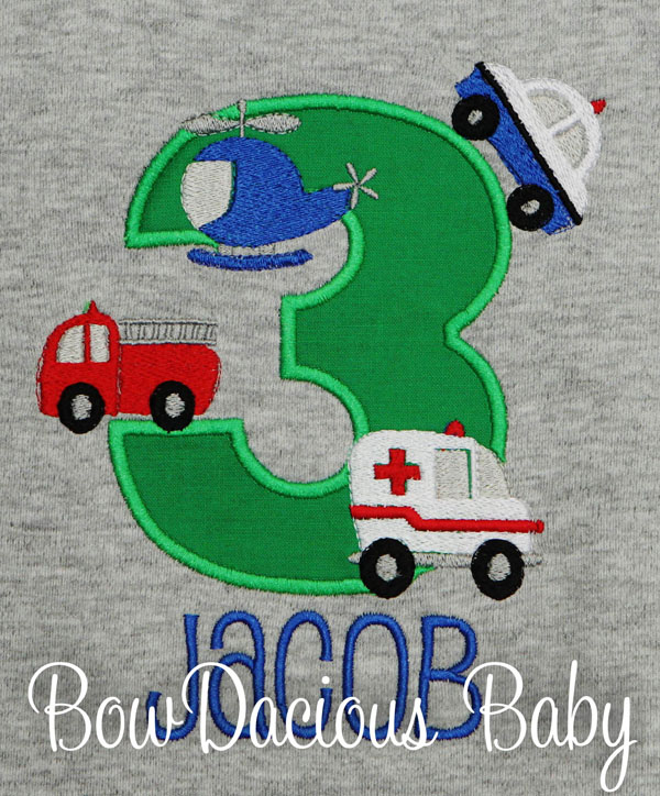 Emergency Responders Birthday Shirt, Personalized