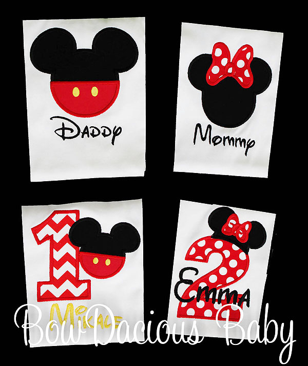 Birthday Family Disney Shirts, Custom, Personalized, 4 Family Disney Shirts