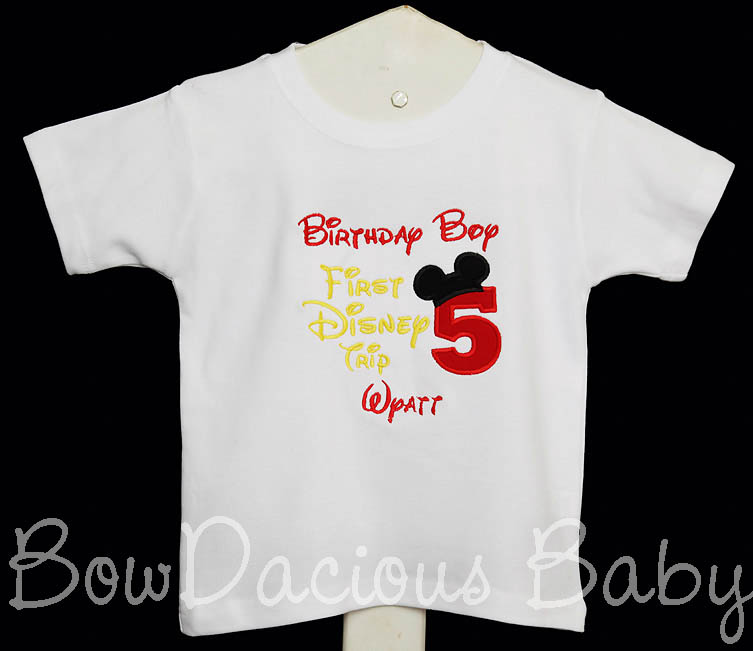 Birthday Boy, My First Disney Trip Shirt, Any Age, Shirt or Onesie, Custom Colors