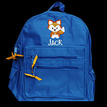 Custom Monogram Fox Backpack, Personalized Back To School Gift for Kids, Embroidered Children's Book Bag, Custom