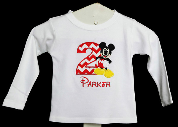 Full Mickey Mouse Birthday Shirt or Onesie