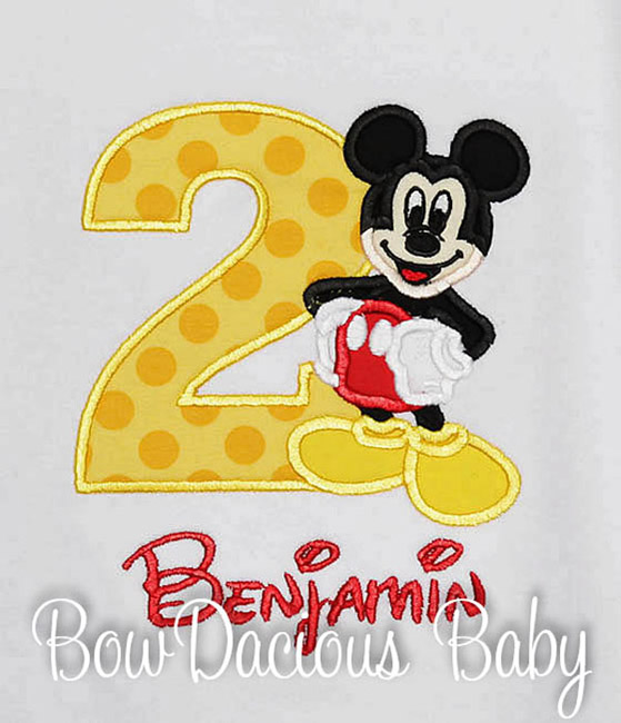 Full Mickey Birthday Shirt or Onesie, Custom