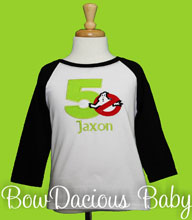 Ghostbusters Birthday Shirt or Onesie, Custom, Any Age, Any Colors