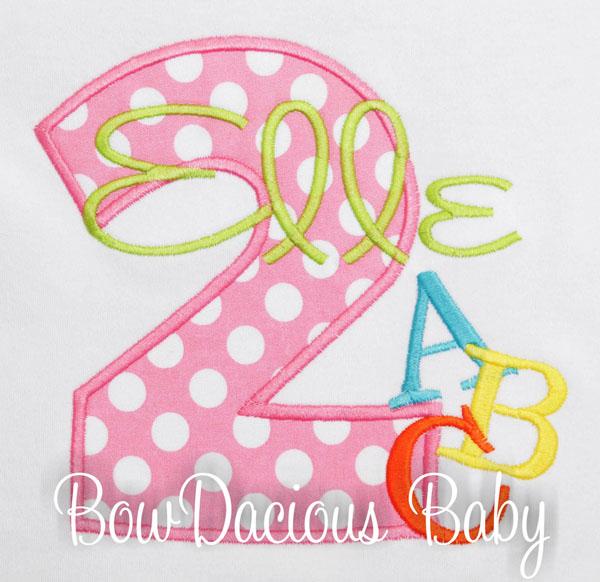 2nd Birthday Alphabet Shirt, Toddler Girl Birthday ABC Outfit, Alphabet Birthday Shirt, 2nd Birthday Shirt, ABC Birthday Shirt, ANY Age