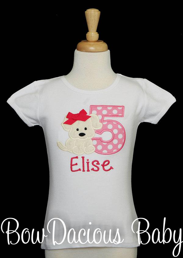Girls Puppy Birthday Shirt, Pink Puppy Birthday, Girl 1st Birthday Shirt, 2nd Birthday Puppy Shirt, Dog Birthday Shirt, ANY AGE, ANY COLORS