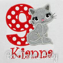 Kitty Birthday T Shirt, Cat Birthday Shirt, Custom, ANY AGE, ANY COLORS