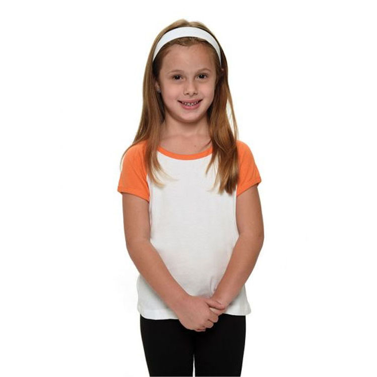*Upgrade* Girl's Short Sleeve Raglan *MUST* Be Purchased with a Design Shirt