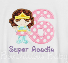 Girls Wonder Woman Birthday Shirt with Number and Name, Any Colors, Any Age, Shirt, Dress, Romper, Tank Top, or Onesie