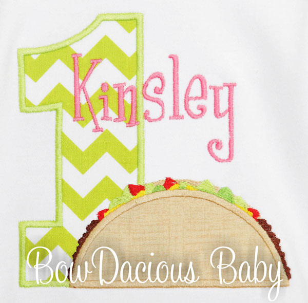 Girl Taco Birthday Shirt, Fiesta Birthday Shirt, Taco Twosday, Taco Tuesday, 1st Birthday Shirt, Sombrero Shirt, Taco Applique, CUSTOM