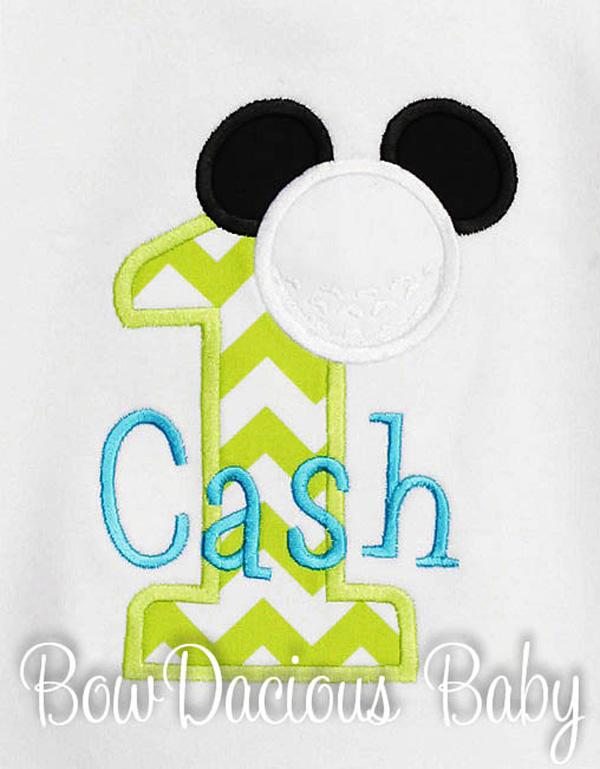 Golf Mickey Mouse Birthday Shirt or Onesie, Custom