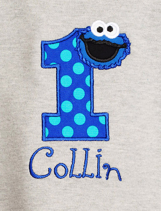 Cookie Monster Birthday Shirt, Custom
