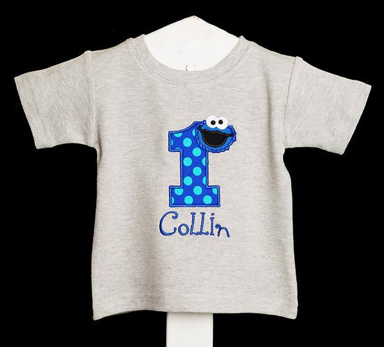 Cookie Monster Birthday Shirt, Custom