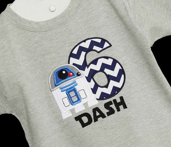 Boys Star Wars Birthday Shirt R2D2 Darth Vader