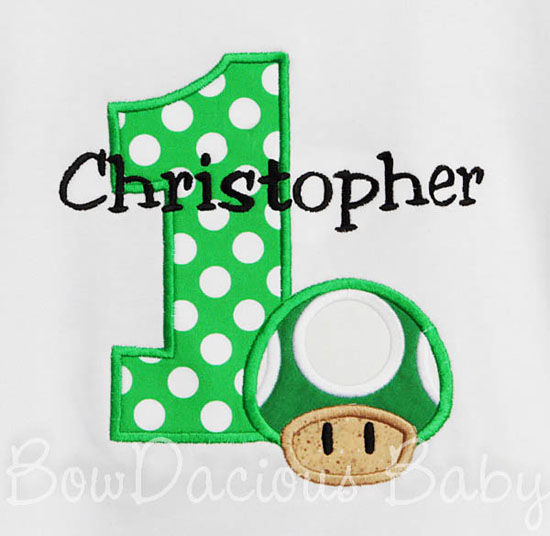 Mario Brothers 1-UP Birthday Shirt