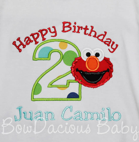 Happy Birthday Elmo Birthday Shirt or Onesie
