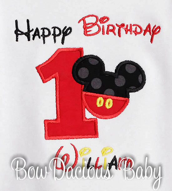 Mickey Mouse Birthday Boy Shirt Custom