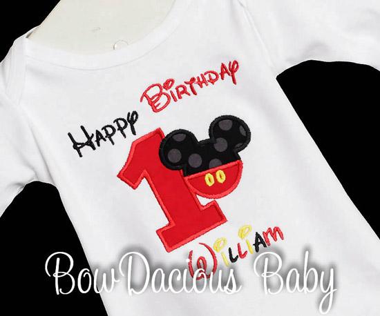Mickey Mouse Birthday Boy Shirt, Custom, Any Age
