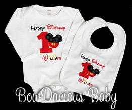 Mickey Mouse Birthday Outfit, Custom, Any Age
