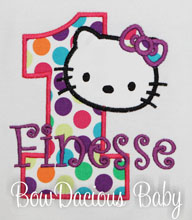 Hello Kitty Birthday Shirt or Onesie, Custom Colors, Any Age