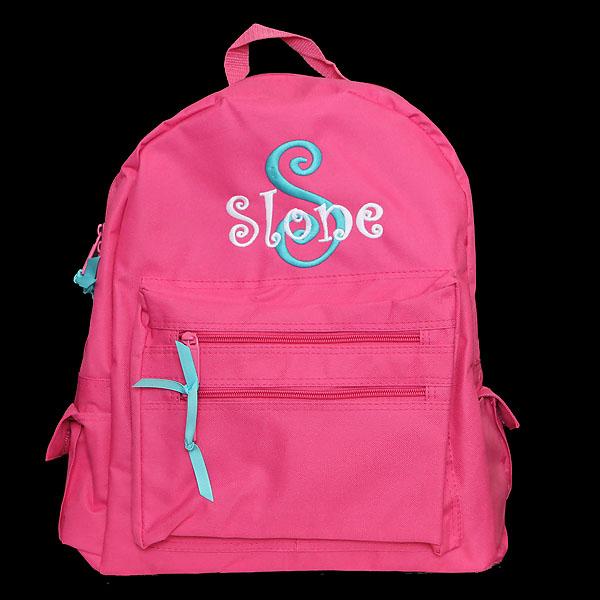 Monogrammed Kids Backpack - Personalized Kids Backpack