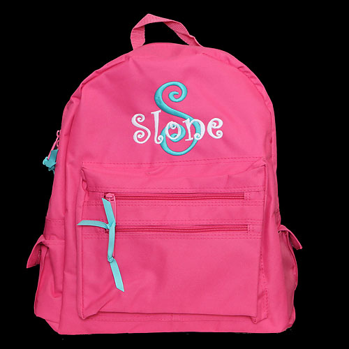 Monogrammed Kids Backpack - Personalized Kids Backpack
