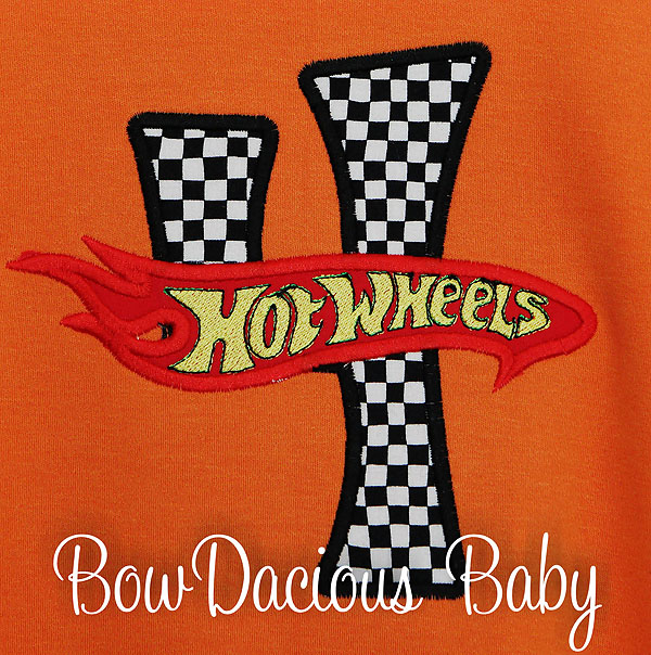 Boys Hot Wheels Birthday Shirt, Custom, Personalized, Any Age, Applique Embroidery