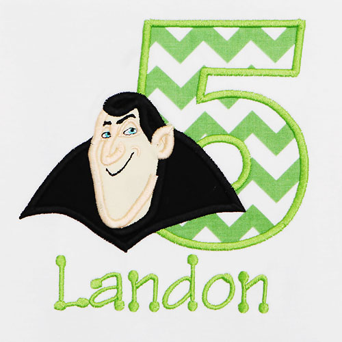 Hotel Transylvania Dracula Birthday Shirt, Custom, Any Age, Any Colors, Personalized, Embroidered