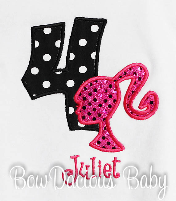 Barbie Birthday Shirt or Onesie, Barbie Birthday Shirt, Barbie Princess Birthday Shirt, Custom, Any Age, Any Colors