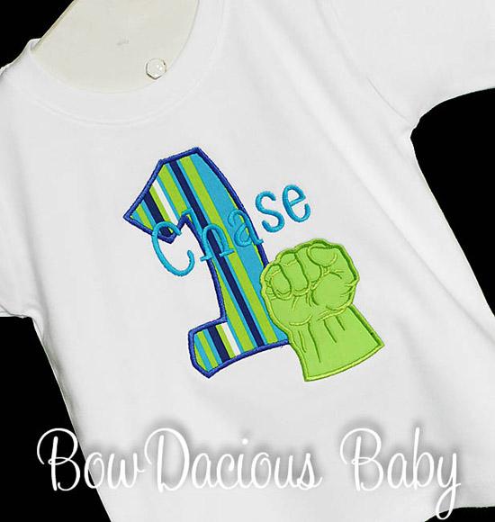 Hulk Birthday Shirt or Onesie, Custom, Any Age
