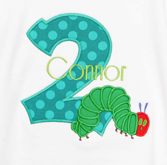 Custom Hungry Caterpillar Birthday Shirt or Onesie