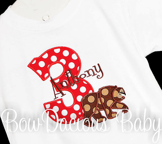 Boys Hungry Caterpillar Brown Bear Birthday Shirt or Onesie, Custom