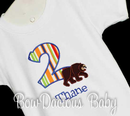 Hungry Caterpillar Brown Bear Birthday Shirt or Onesie, Custom, Any Age