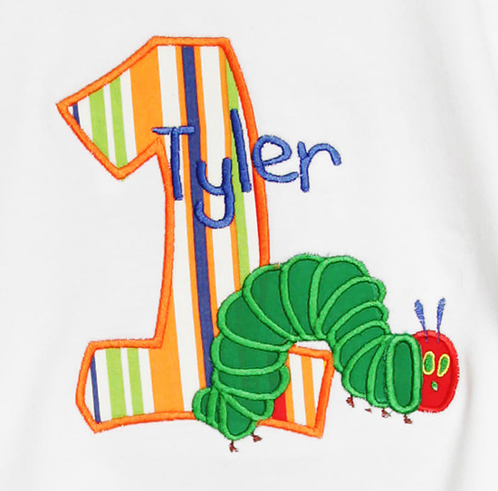 The Very Hungry Caterpillar Personalized Birthday Shirt or Onesie
