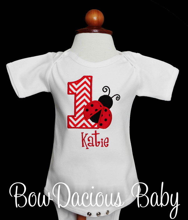 Ladybug Birthday Shirt, Ladybug Birthday Outfit, First Birthday, Second Birthday, Custom, ANY AGE, ANY COLORS