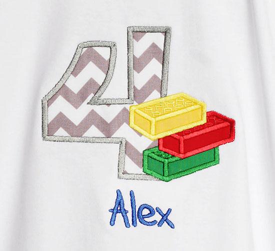Boys Lego Birthday Shirt or Onesie, Custom, Any Age