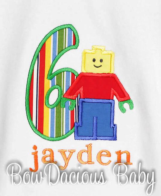 Lego Man Birthday Shirt, You Pick, Any Age