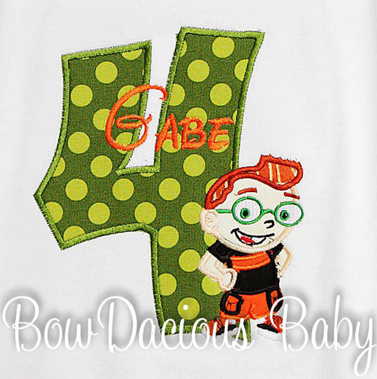Little Einsteins Leo Birthday Shirt or Onesie, Custom, Any Age, Personalized