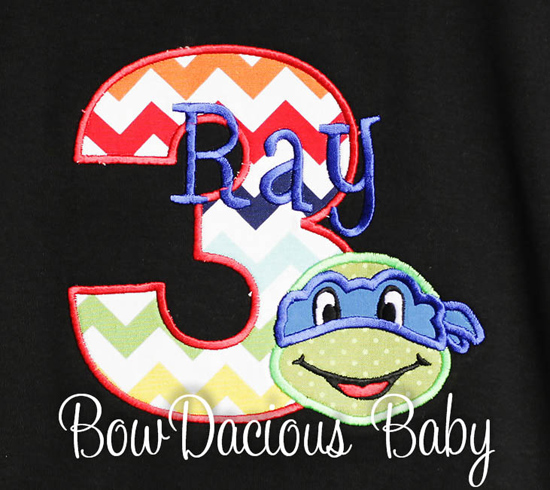 Teenage Mutant Ninja Turtles, TMNT Birthday Shirt,  Name and Birthday Number, Custom