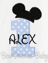 Mouse Ears Birthday T-Shirt, Number One Shirt, First Birthday, Mickey, Kids Tee, Boy T-shirt