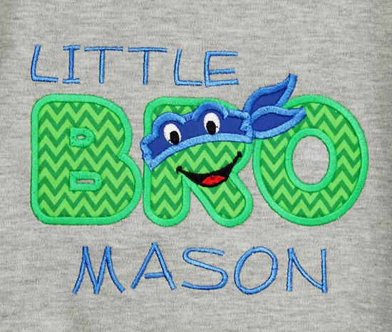 Sibling Ninja Turtle Birthday Shirt, Custom