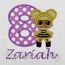 L.O.L. Dolls LOL Queen Bee Birthday Party, Personalized Girls Birthday Shirt or Onesie, Custom, CHOOSE DOLL