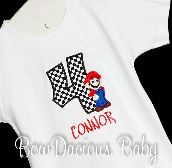 Mario Kart Birthday Shirt