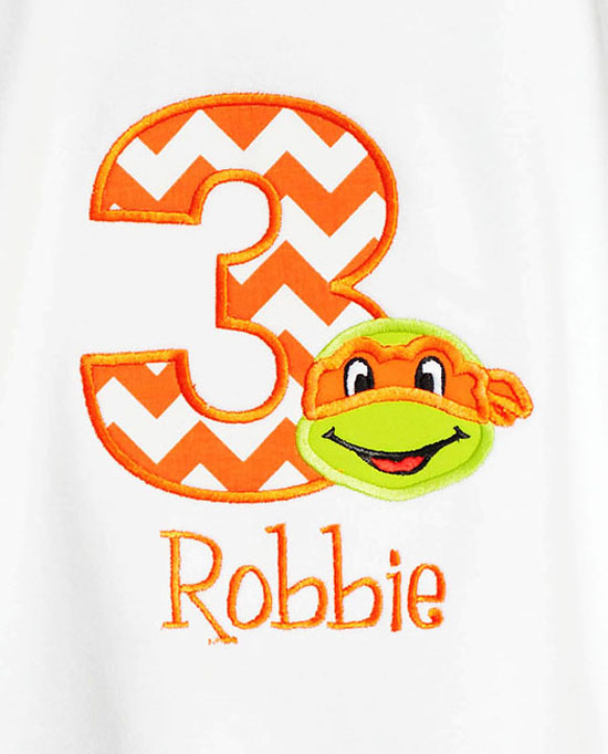 Ninja Turtle Birthday Shirt 3
