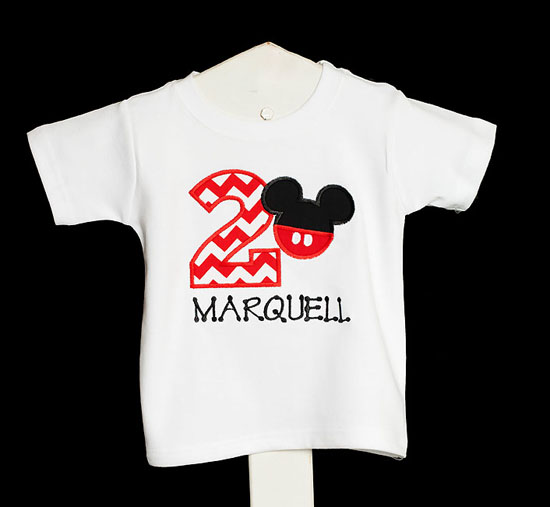 Personalized Mickey Mouse Birthday Shirt