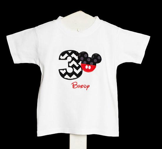 Mickey 3rd Birthday Shirt, You Pick the Fabrics