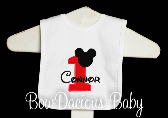 Mickey Mouse Baby Bib Personalized