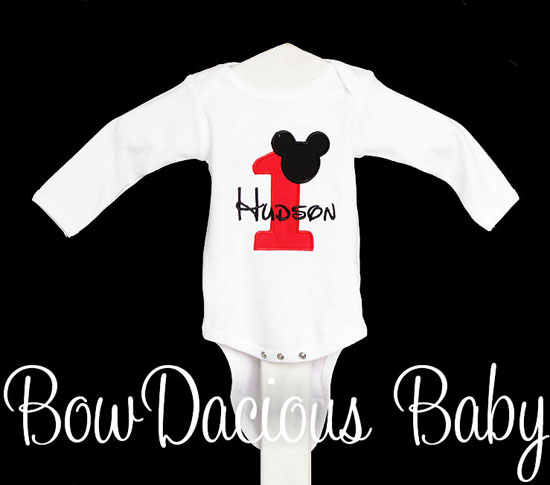 Mickey Mouse Shirt for 1st Birthdays, Boy Birthday Outfit, Custom