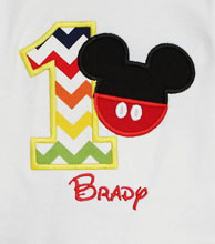 Mickey 1st Birthday Shirt, Custom, Any Age