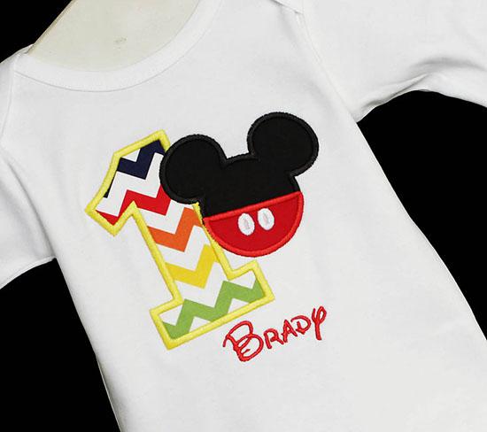 Mickey 1st Birthday Shirt, Custom, Any Age