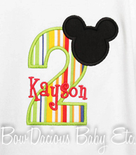 Mickey Mouse Birthday Shirt, Personalized Mickey Mouse Birthday Shirt